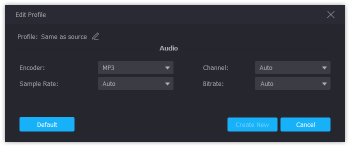 Audio Profile Settings
