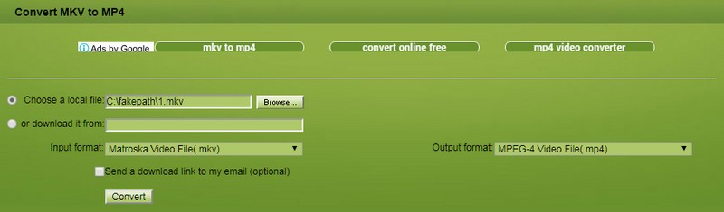 convert mkv file to mp4 free online