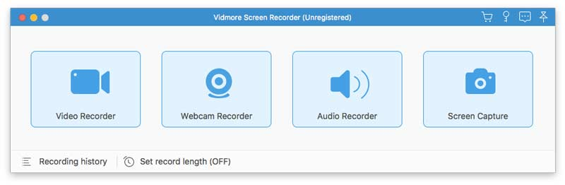 Run Vidmore Screen Recorder