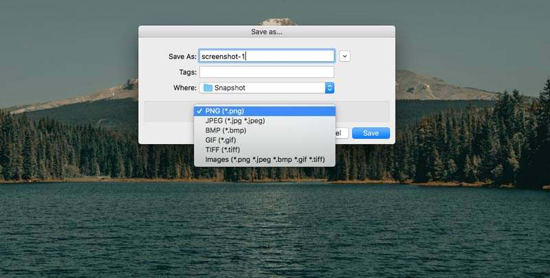 Save Mac Screenshot