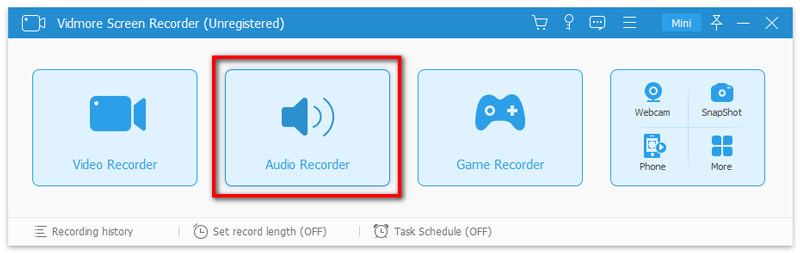 Select audio recorder