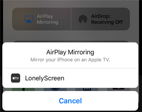 Airplay to Lonelyscreen