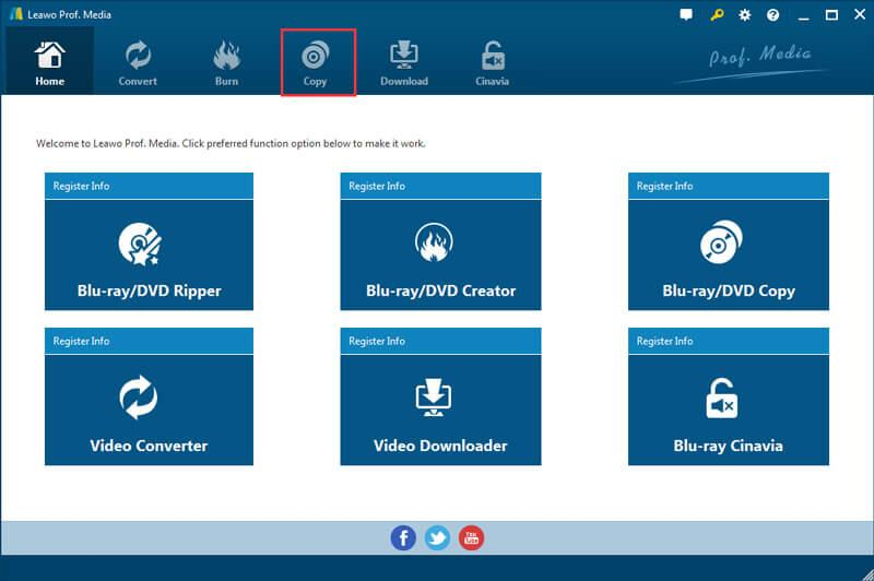 Blu-ray Copy Interface