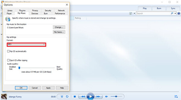 Convert flac to mp3 windows media player