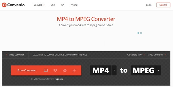 convert video from mp4 to mpeg free online