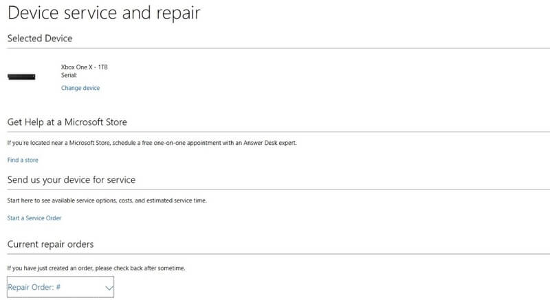 Device service and repair