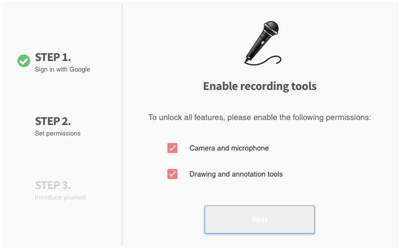 Enable recording tools