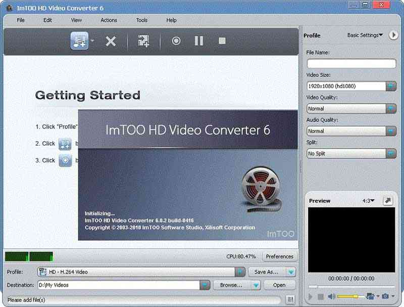 Imtoo HD video converter