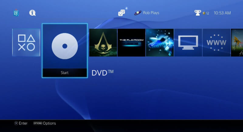 Play DVDs on PS4