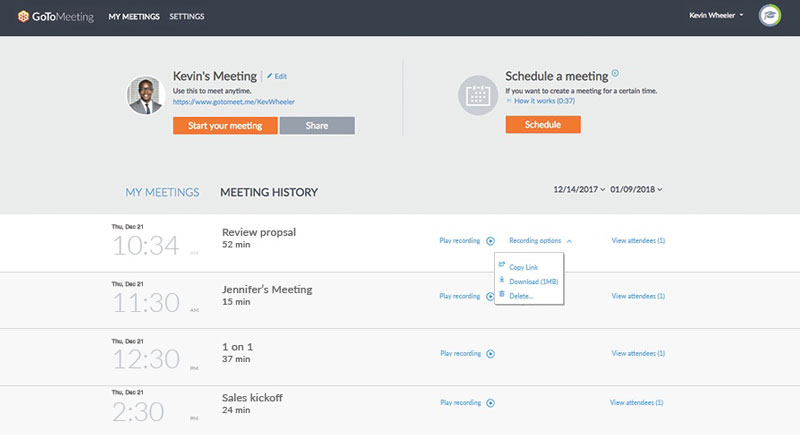 Record GoToMeeting Video and Audio