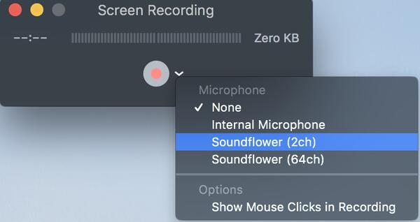 Select soundflower