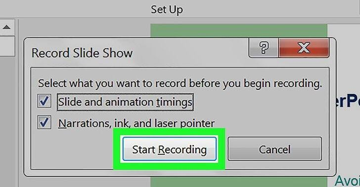 Start Recording Powerpoint