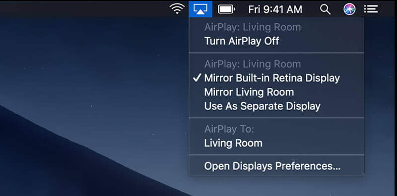 Turn Airplay Off on Mac
