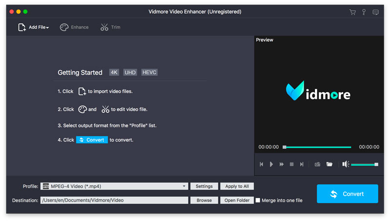 Vidmore Video Enhancer for Mac