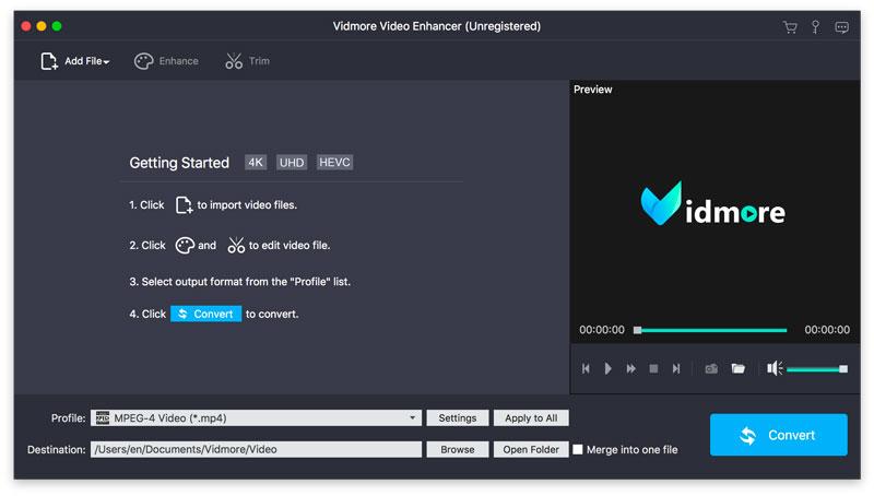 Vidmore Video Enhancer for Mac