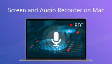 Bildschirm und Audiorecorder