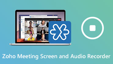 Zoho meeting screen and audio recorder